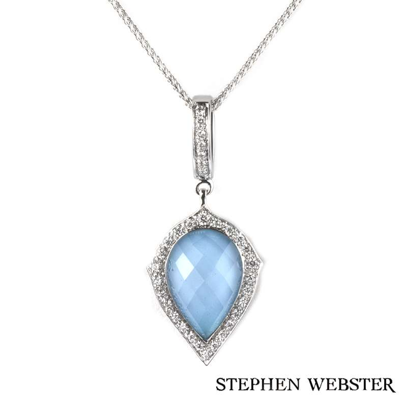Stephen Webster 18k White Gold Crystal Haze Pendant